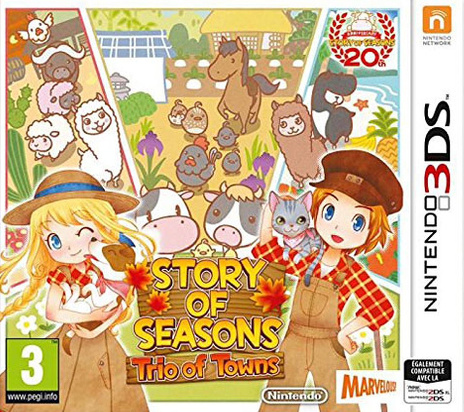 Jaquette de Story of Seasons : Trio of Towns