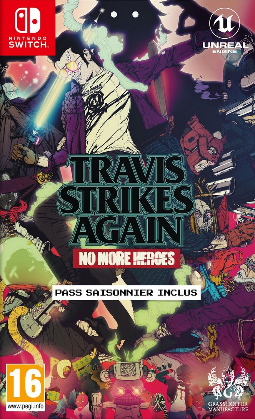 Jaquette de Travis Strikes Again: No More Heroes