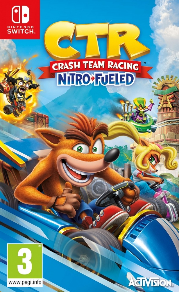 Jaquette de Crash Team Racing Nitro-Fueled
